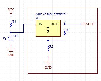 High Voltage Regulator Schematic
